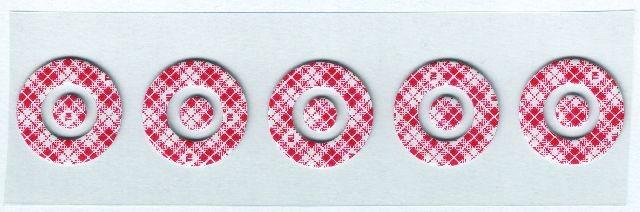 Regensensor gelpads VW , Seat en Skoda 1 mm  5 stuks. 1e type, 2