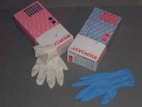 Doos vinyl handschoenen blauw, maat L