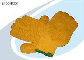 Werkhandschoenen power grip oranje, medium met criss-cross kleef