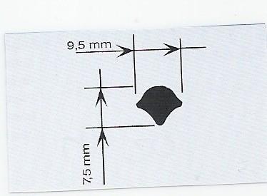 Vulstrip zwart voor inbouwrubber, 25 meter