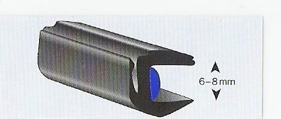 Universele binnenlijst 6-8 mm glas ( model Ren.5) rol 50 mtr.