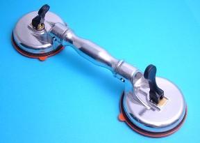 Dubbele zuignap met scharnierende zuignappen, metalen uitvoering
