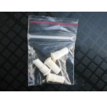 Wit rubber insteek voor witte injector