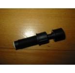 Injector zwart met drukstift en wit rubber insteek