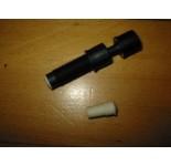 Wit rubber insteek voor zwarte injector