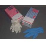 Doos vinyl handschoenen blauw, maat M