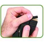 Rubber afstandblokjes 6,4 x 6,4 x 25 mm, 72 stuks per strip, ver