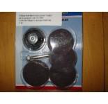 Schuurschijfset met rubber houder en 3 schijven van 50 mm. Voor